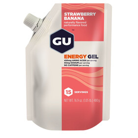 GU Energy Gel Sportvoeding met basisprijs Strawberry Banana 480g